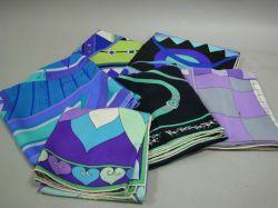 Six Pucci Silk Scarves.