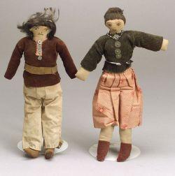 Southwest Male and Female Cloth Dolls
