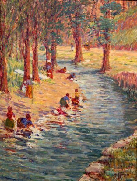 Harry Leslie Hoffman (American, 1874-1966)    Washer Women