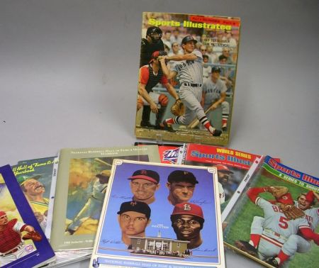 Group of Boston Red Sox Related Yearbooks, Periodicals, and a Program