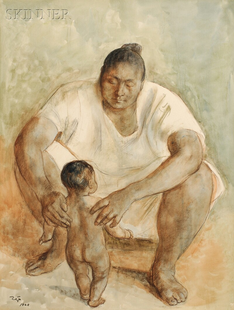 Francisco Zúñiga (Mexican, 1912-1998)      Mother and Child
