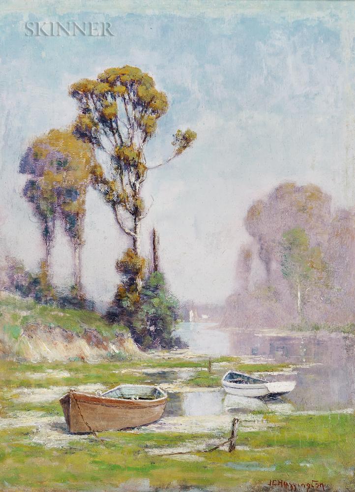 John Clifford Huffington (American, 1864-1929)      Beached Dories