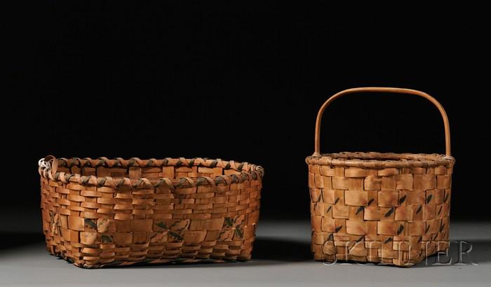 Two Northeast Splint Baskets