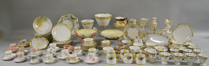 Large Assorted Group of Mostly European Hand-painted China