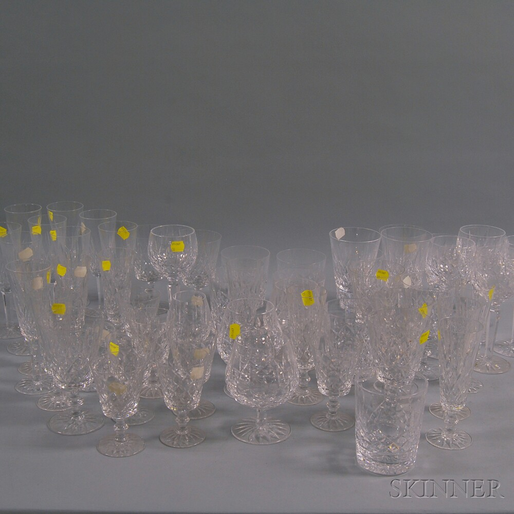 Large Group of Mostly Waterford Drinkware