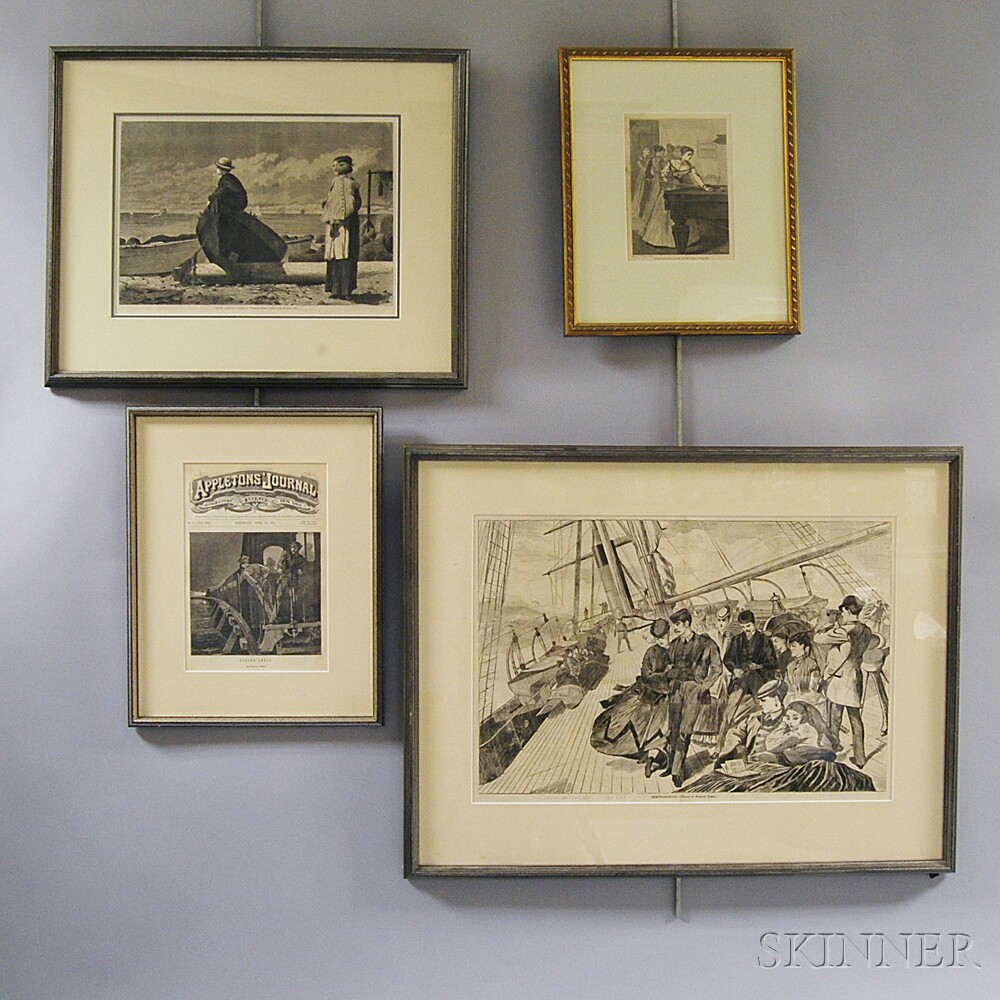 Four Framed Winslow Homer Engravings