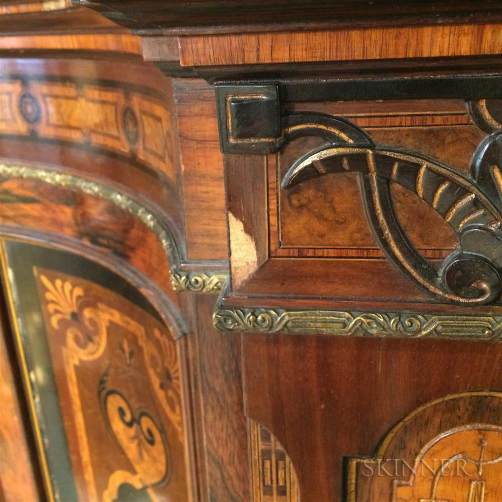 Renaissance Revival Porcelain-mounted Inlaid Cabinet