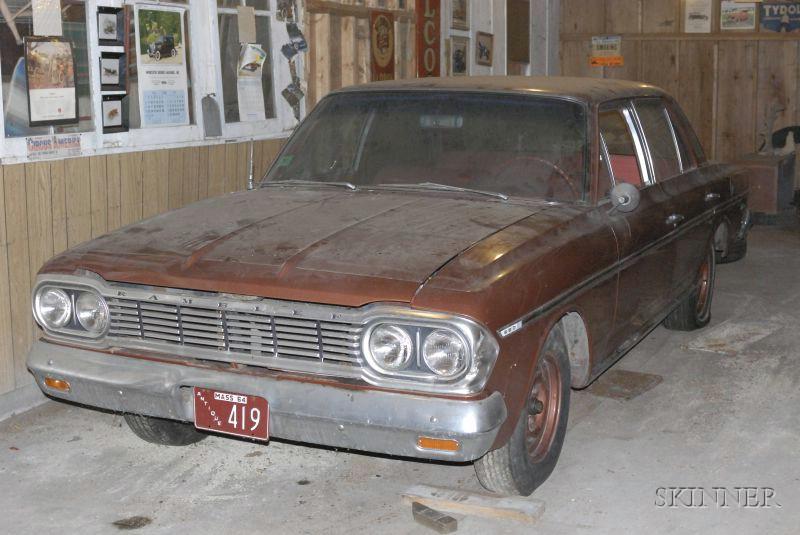 1964 Rambler, Vin # E025896, parts car