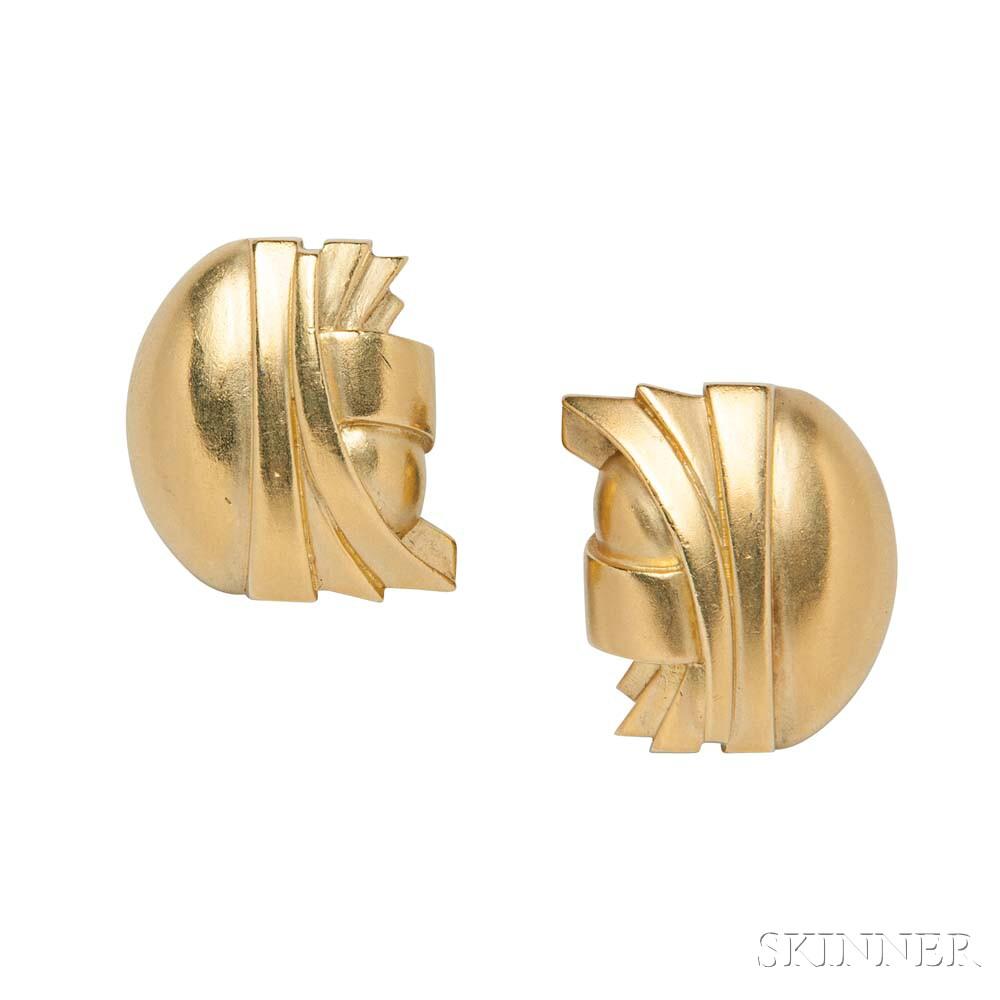 18kt Gold Earclips, Barry Kieselstein-Cord