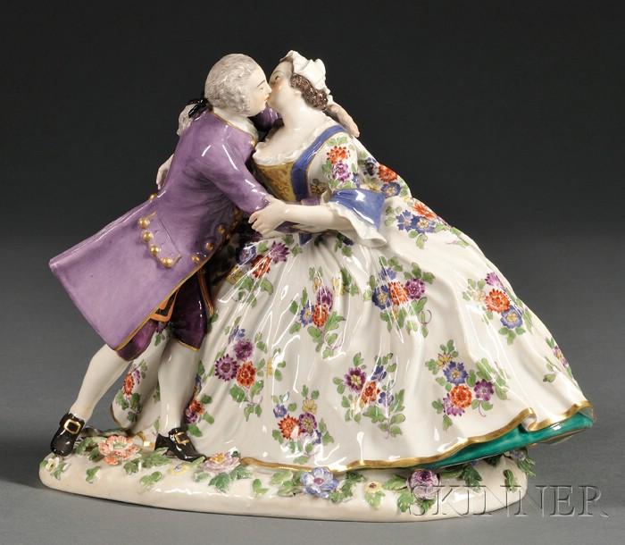 Meissen Porcelain Figure of an Amorous Couple