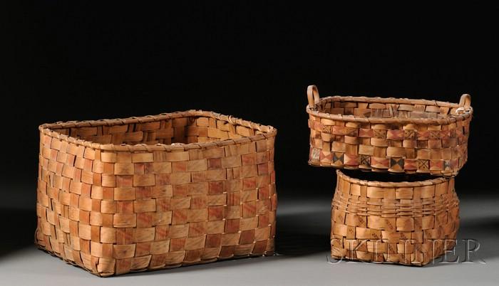 Three Northeast Splint Baskets
