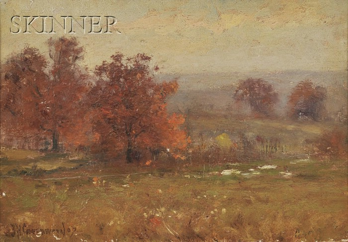 Joseph H. Greenwood  (American, 1857-1927)      Hillside in Autumn