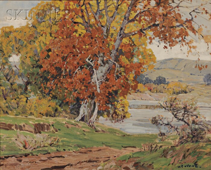 Hanson Duvall Puthuff  (American, 1875-1972)      Mantle of Autumn