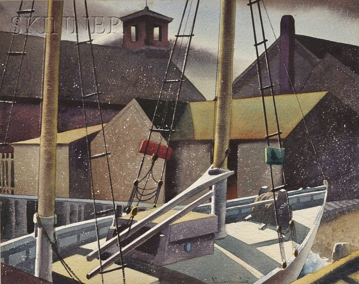Sandor Bernath  (American, 1892-1984)      Dockside