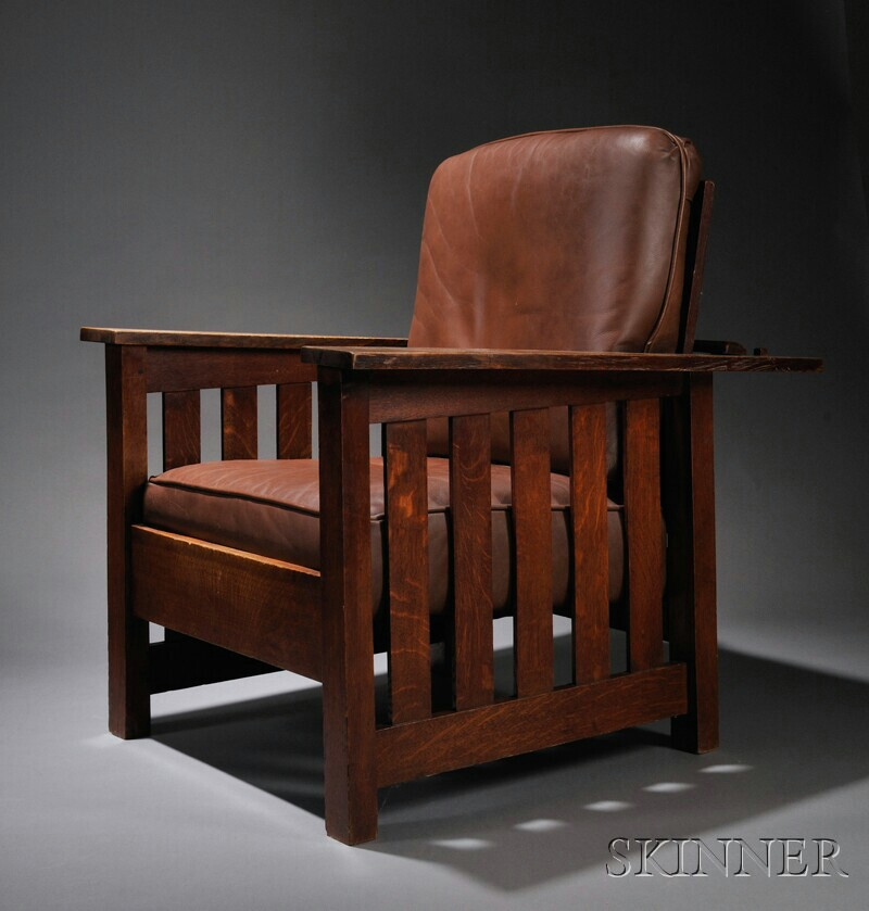 Arts & Crafts Morris Chair and Ottoman