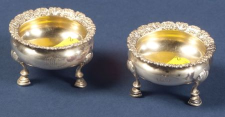 Pair of Tiffany & Co. Sterling Open Salts