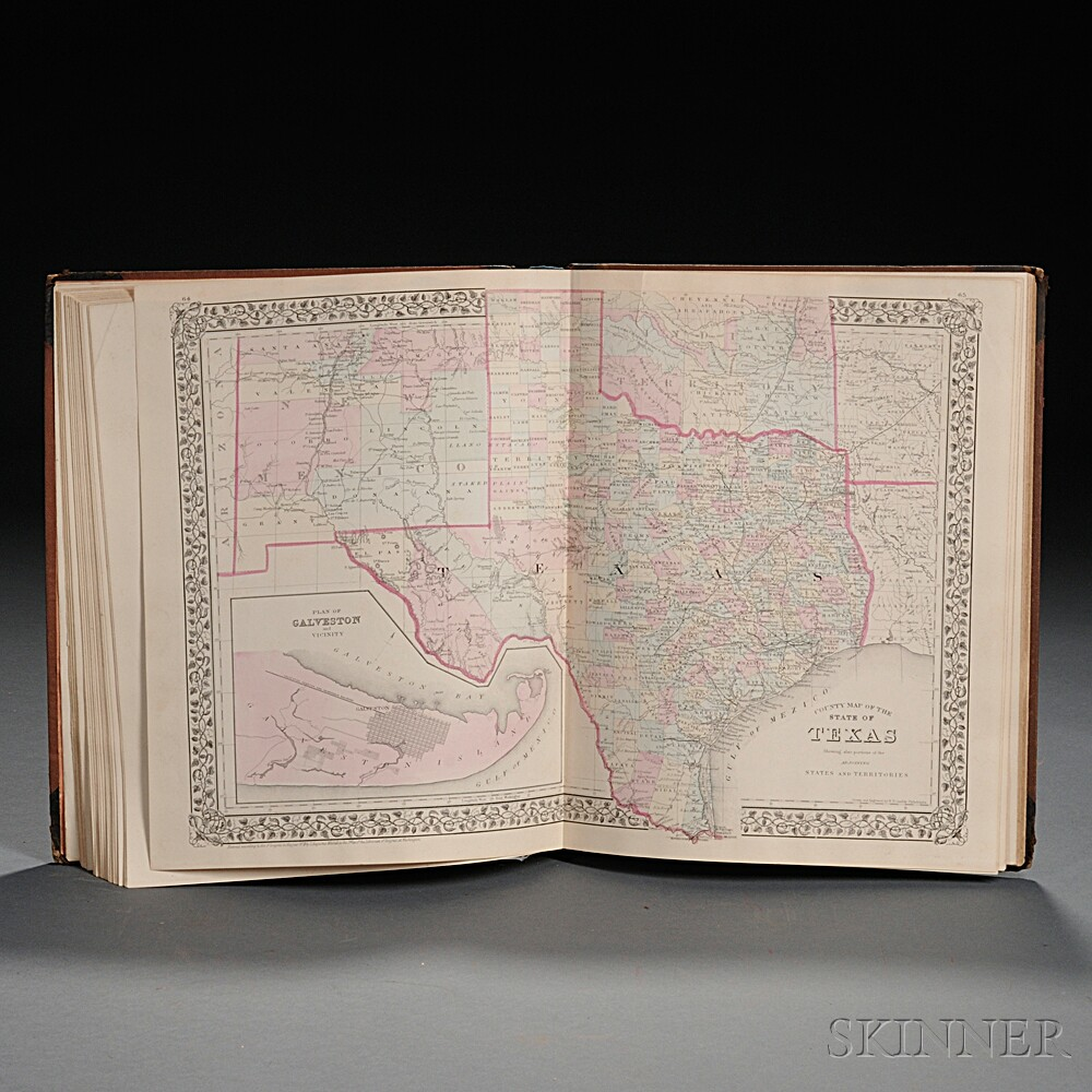 Mitchells New General Atlas, Containing Maps of the Various Countries of the World, Plans of Cities, etc. Embraced in Ninety-three Qua