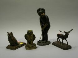 Four Assorted Bronze Figures