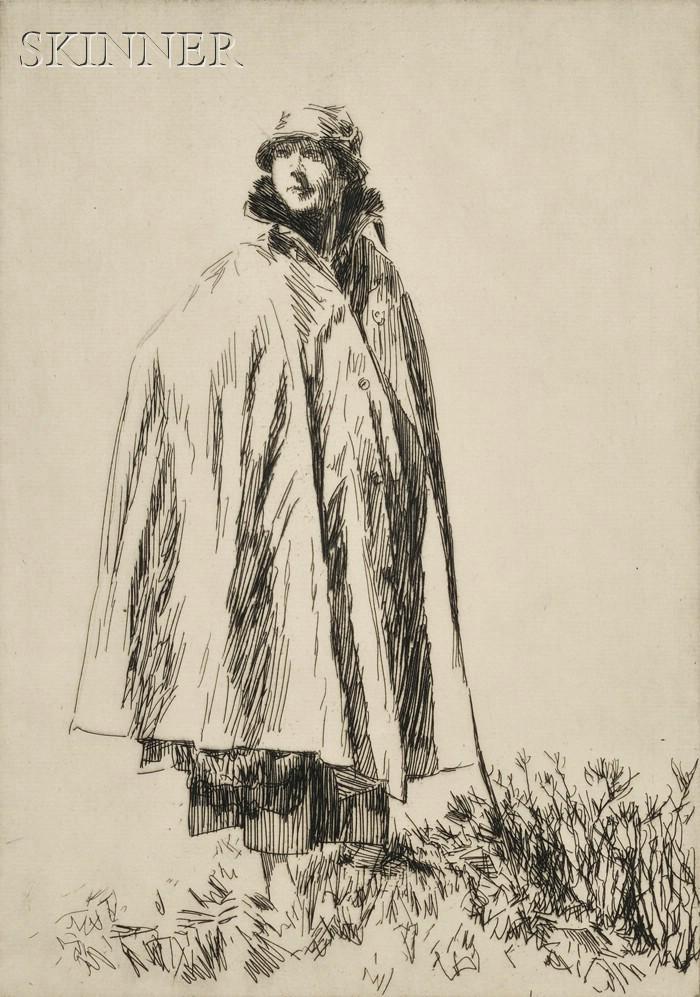 Joseph Simpson (British, 1879-1939)      Lot of Three Portraits:  Lucy in Galloway
