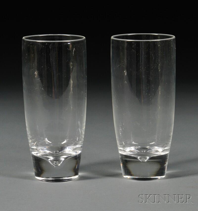 Twelve Steuben Highball Glasses