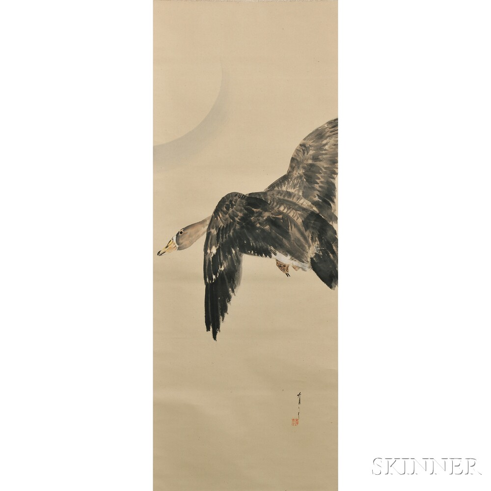 Hanging Scroll Depicting a Goose