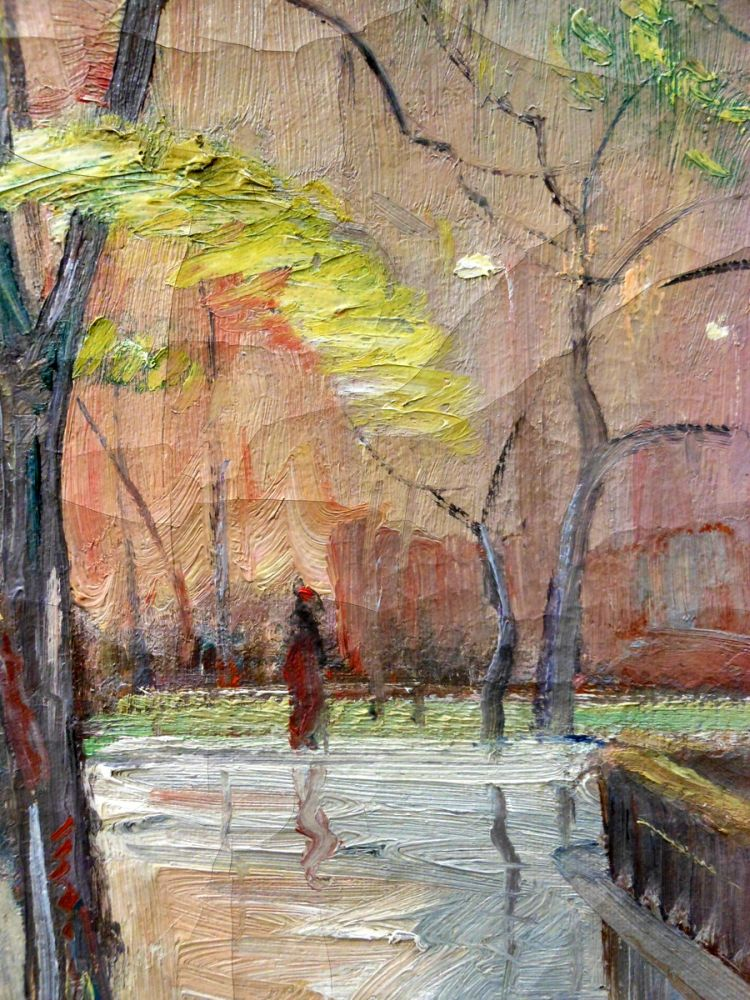 Bela de Tirefort (American, 1894-1993)      Washington Square Arch in Spring