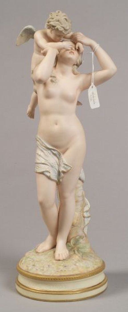 Polychrome Decorated Parian Group