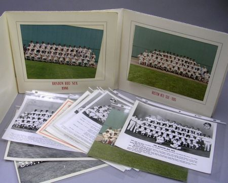 Collection of Twelve Boston Red Sox Team Photographs