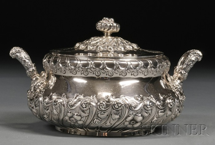 Theodore B. Starr Sterling Covered Serving Dish