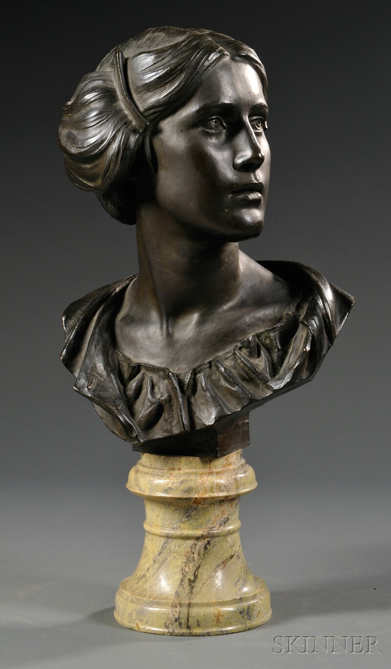 James Pittendrigh MacGillivray (Scottish, 1856-1938)       Bronze Bust of a Woman