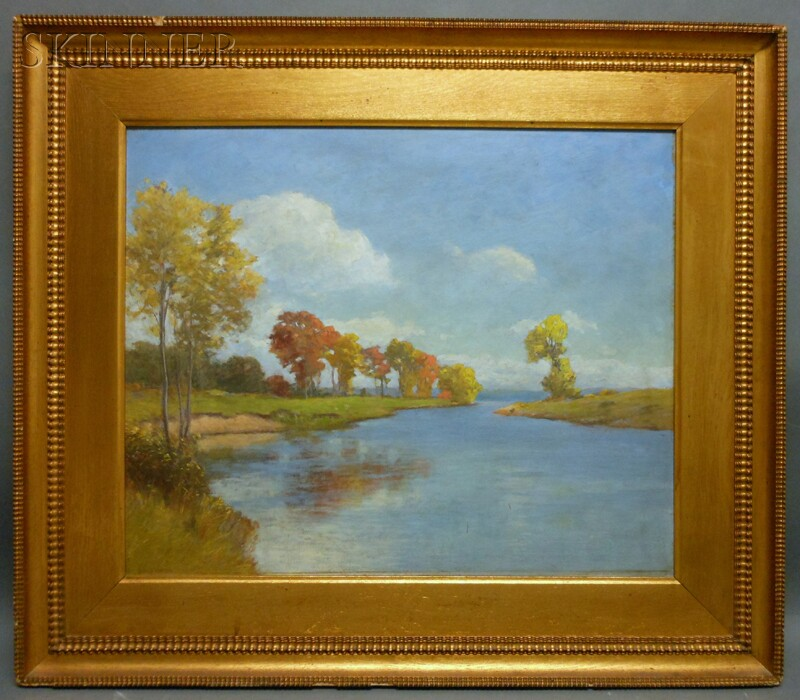 George Wainwright Harvey (American, 1855-1930)      Autumn Afternoon, Ipswich River