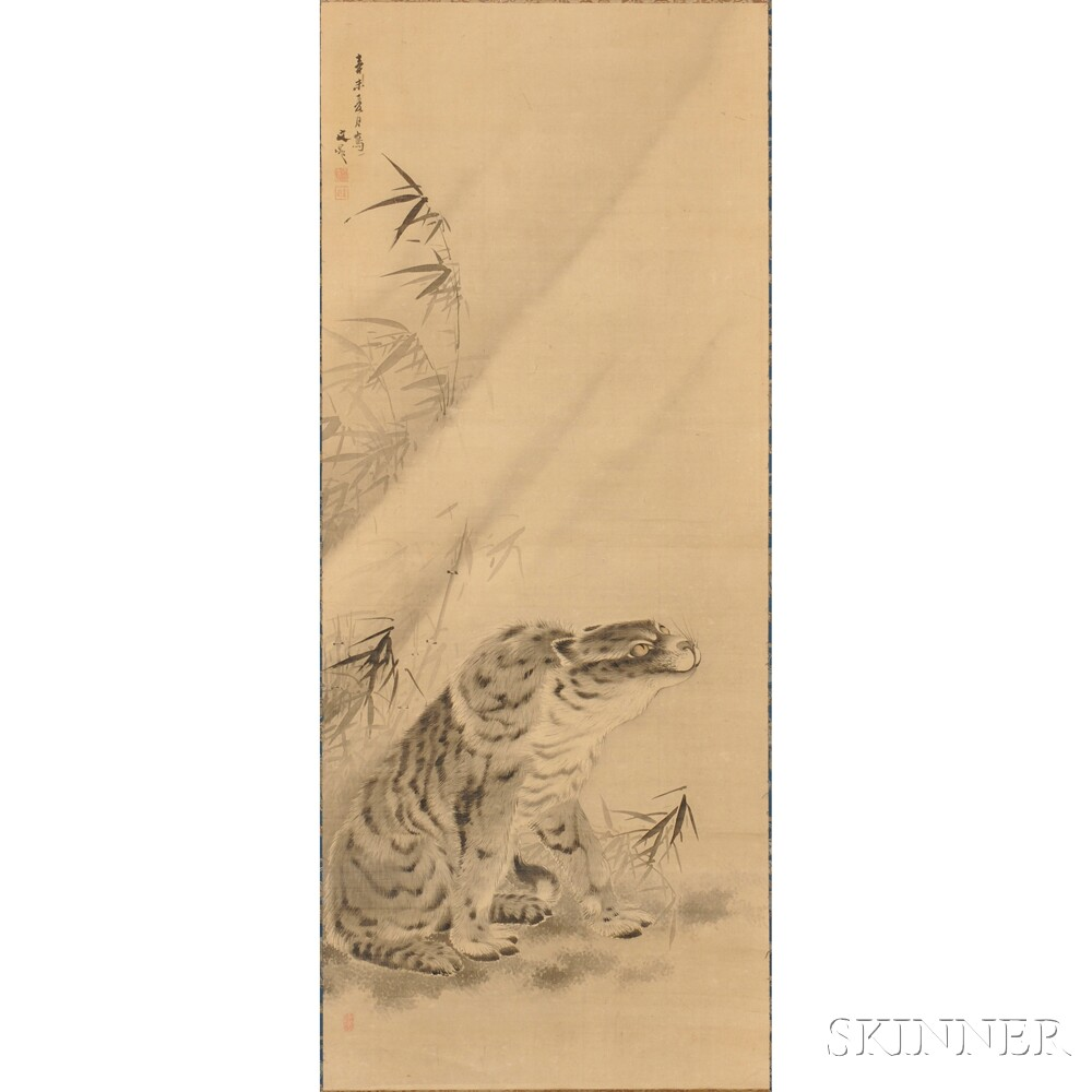 Pair of Hanging Scrolls Depicting a Dragon and a Tiger