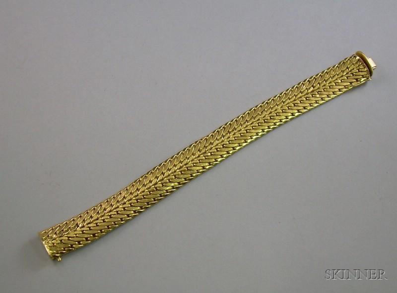 18kt Gold Woven Bracelet