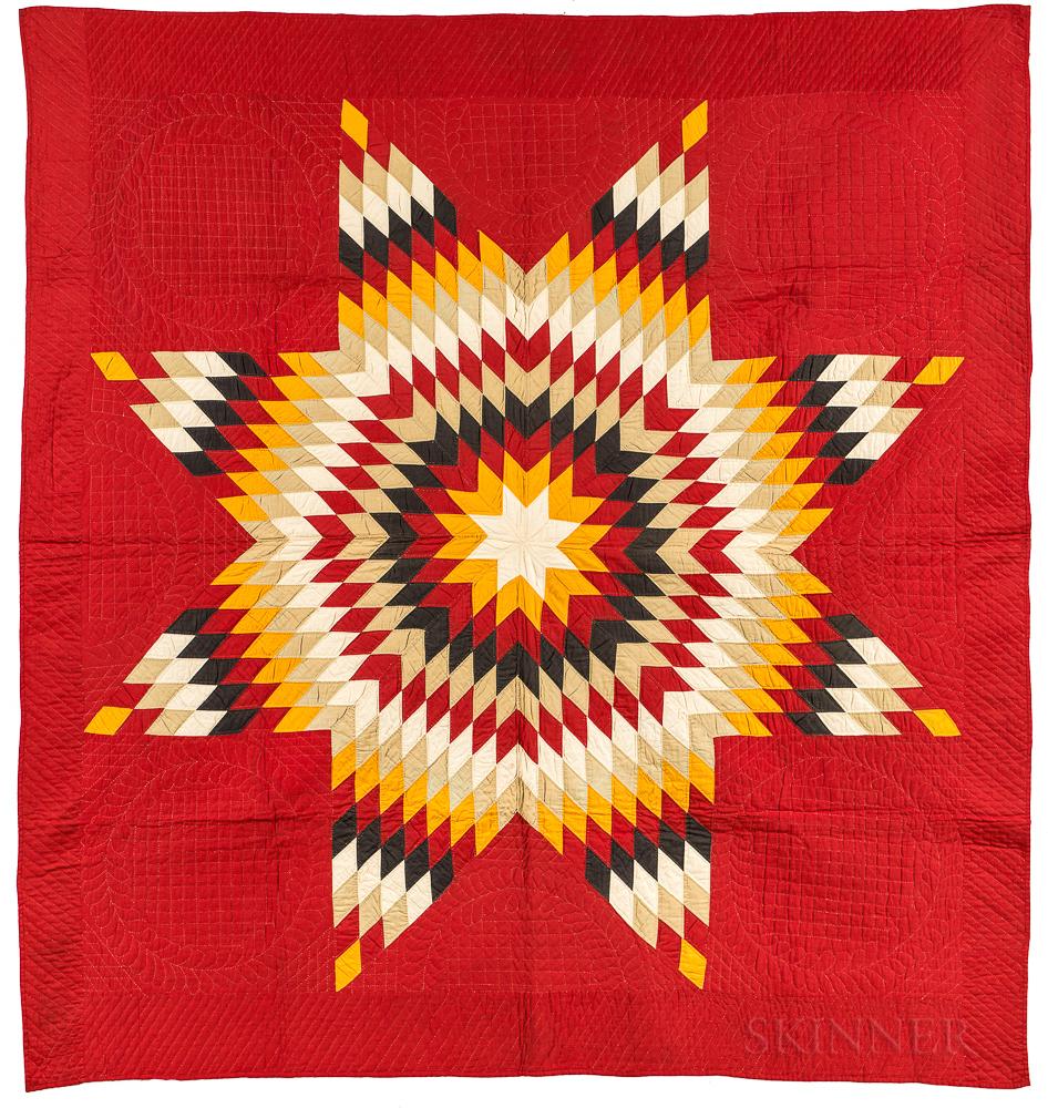 Hand-stitched Star Quilt