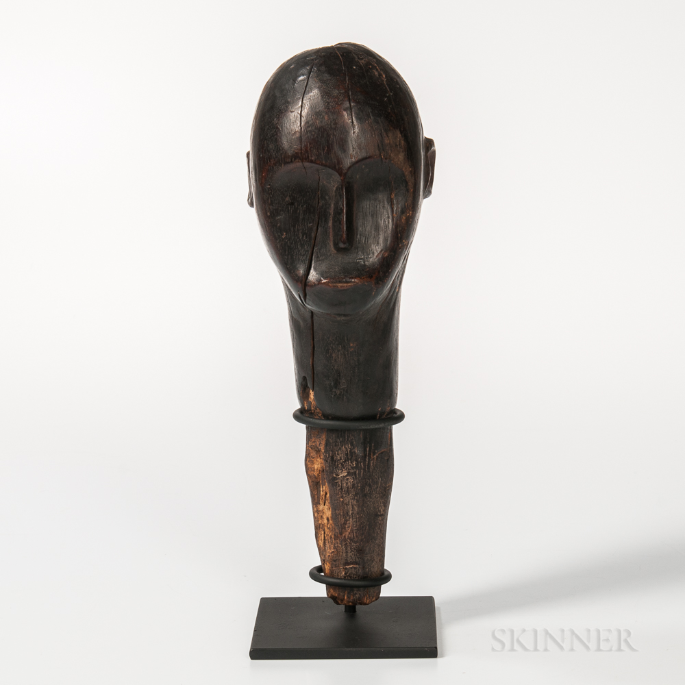Carved Wood African Head