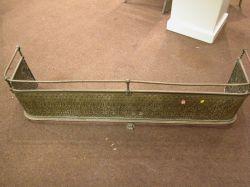 Victorian Pressed Brass Fire Fender.