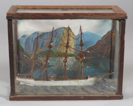 Cased Ship Diorama
