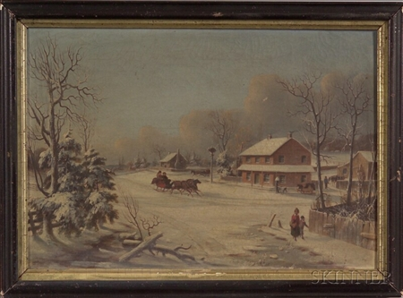 American School, 19th Century    Afternoon Sleigh Ride.