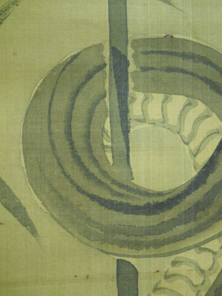 Hanging Scroll Depicting a Snake