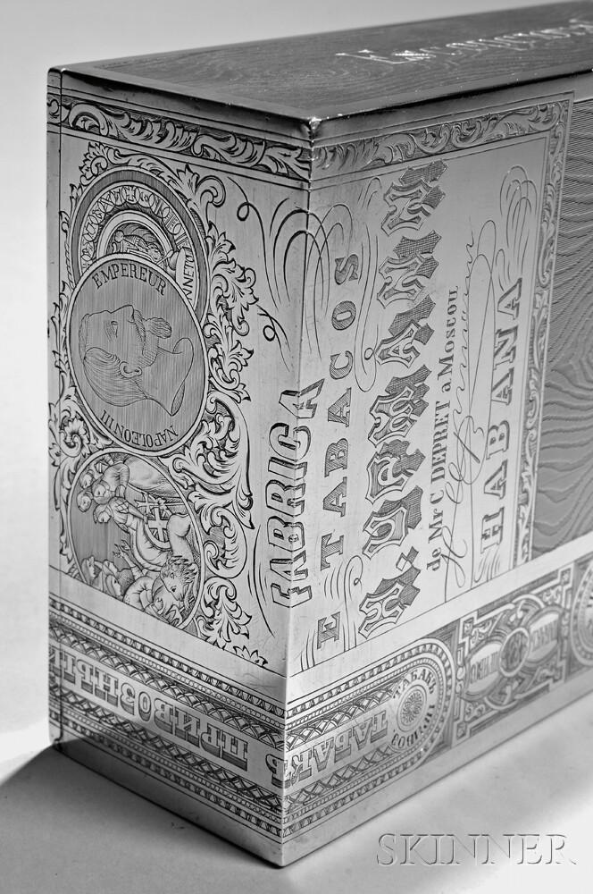 Russian .875 Silver Trompe l\'Oeil Cigar Box | Sale Number 2888B, Lot ...