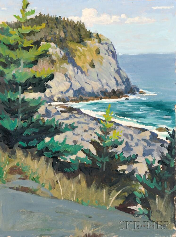 Hillary Osborn (American, b. 1965)      Whitehead Cliff, Monhegan