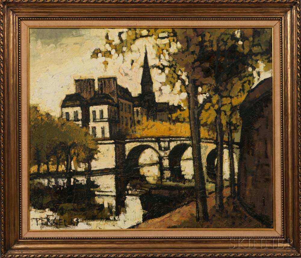 Jacques Pergel (French, b. 1924)      Notre Dame in Autumn.