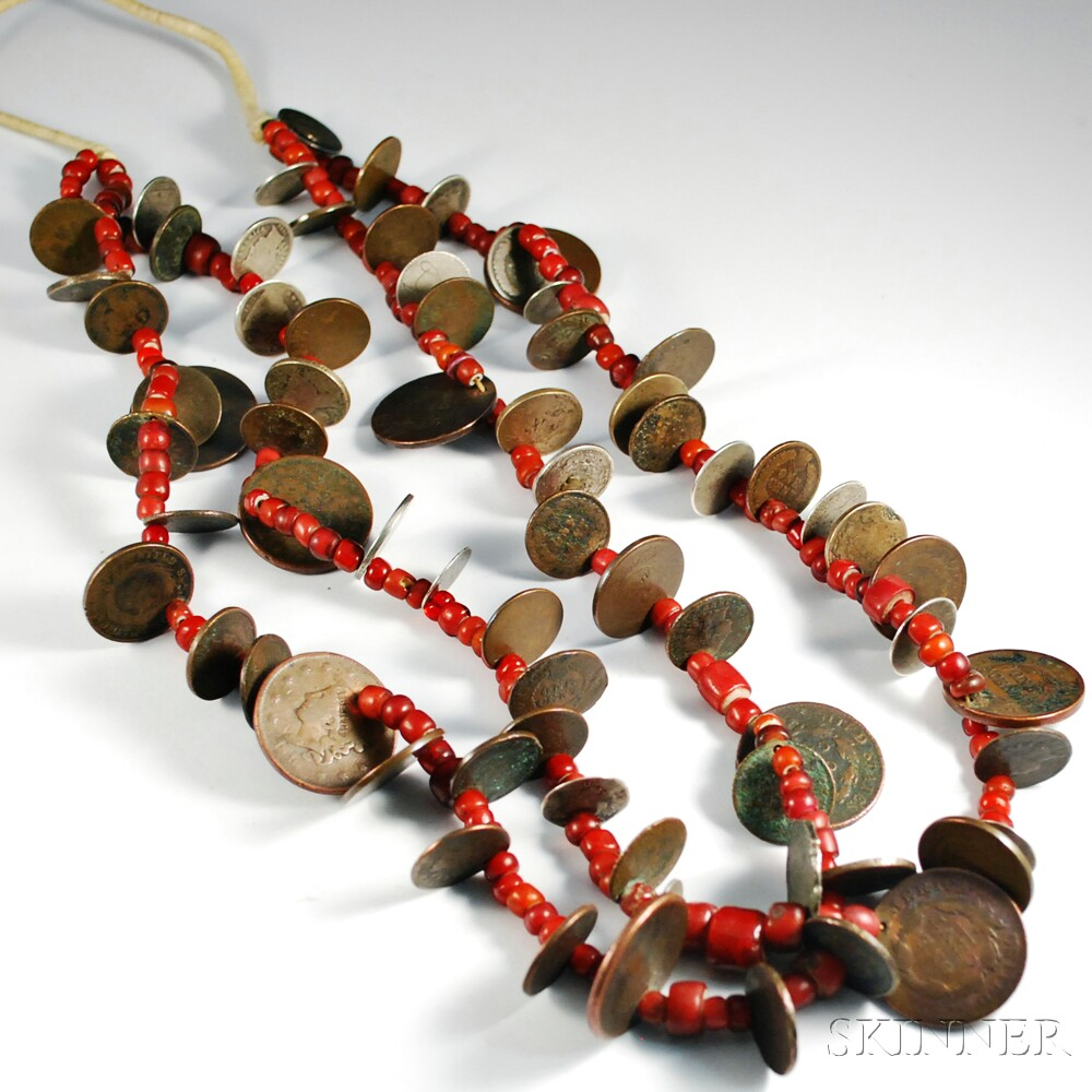Southwest Coin and Trade Bead Necklace