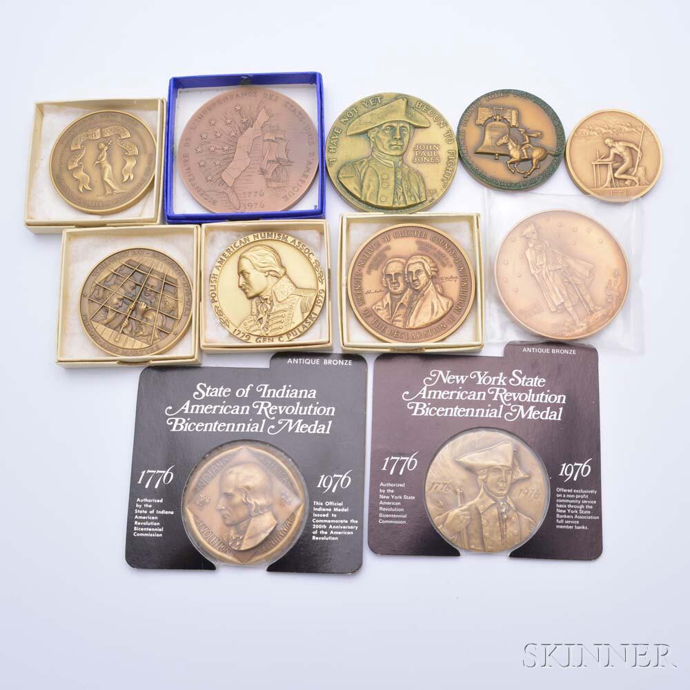 Eleven Commemorative American Revolution Bronze Medals