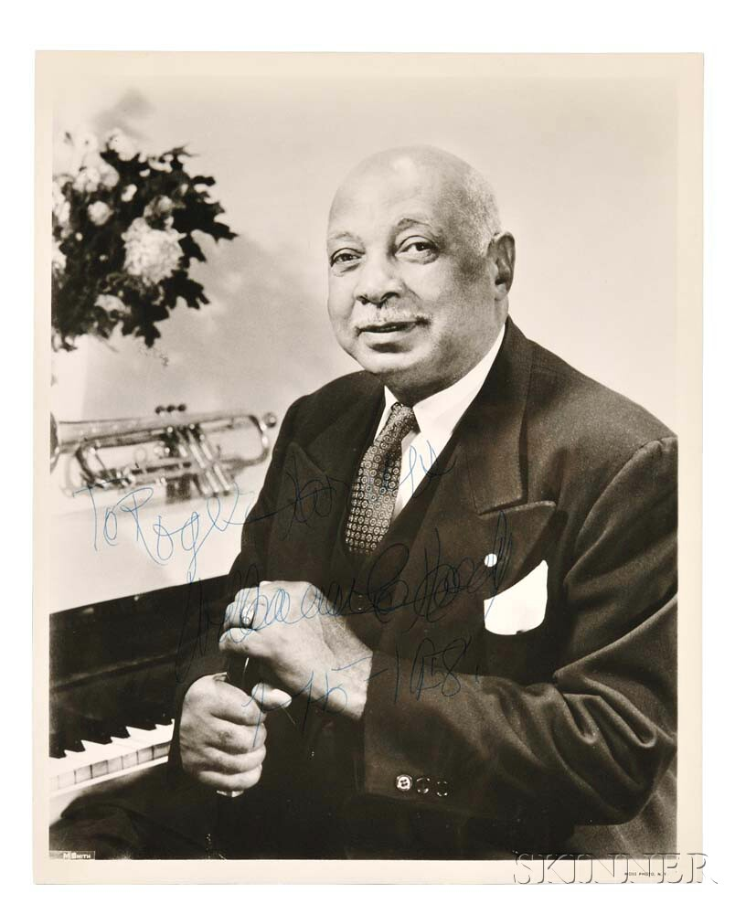 Handy, William Christopher (1873-1958) Signed Photograph.