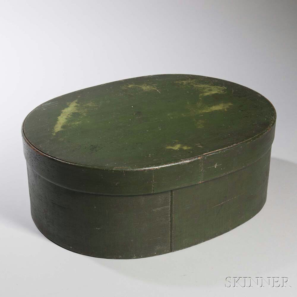 Large Green-painted Pantry Box