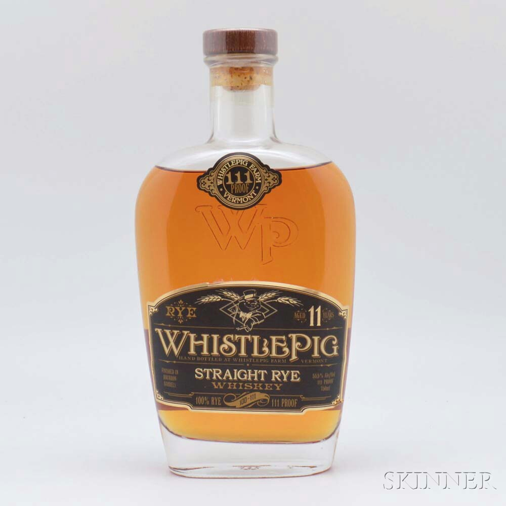 Whistle Pig 111 Rye 11 Years Old, 1 750ml bottle