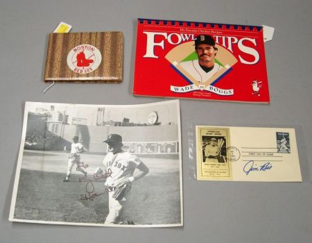 Group of Boston Red Sox Autographed Items