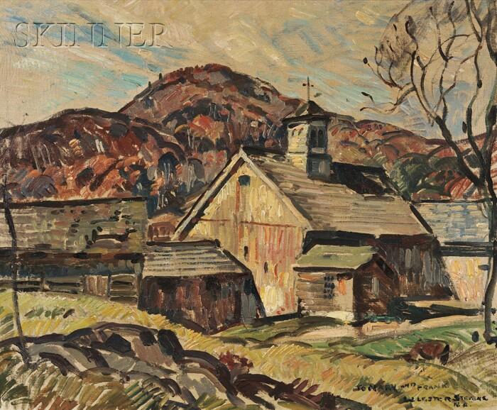 William Lester Stevens (American, 1888-1969)      Farm in Autumn
