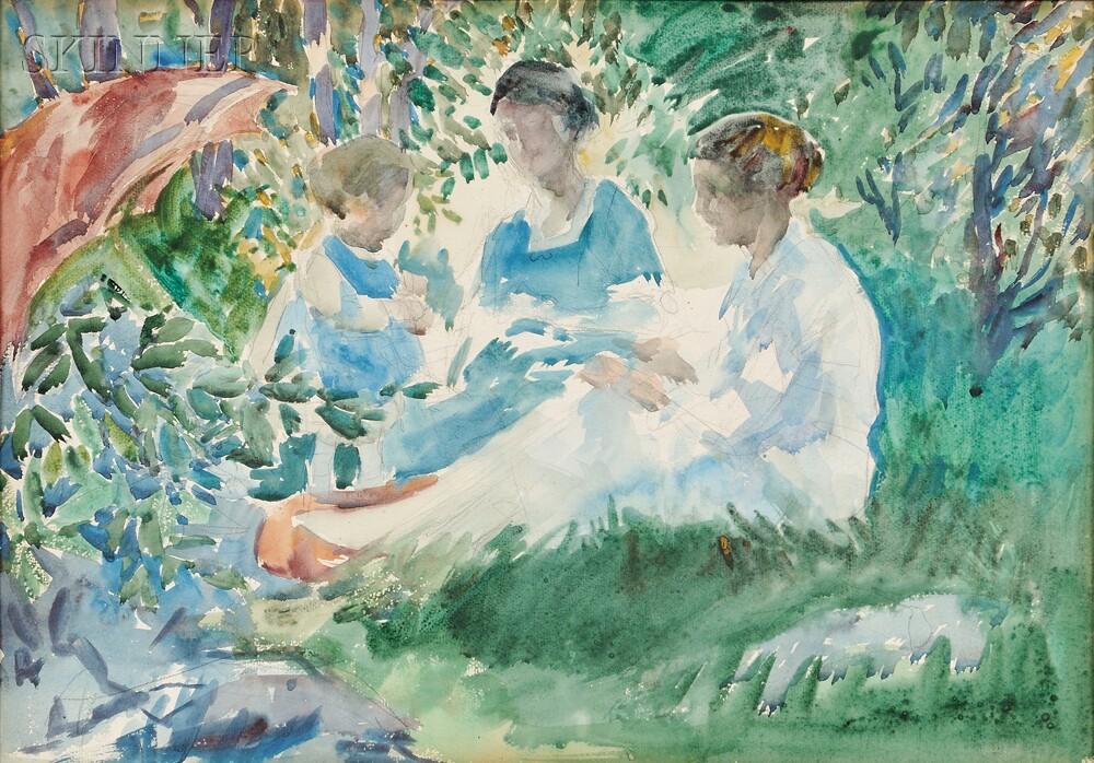 Attributed to Francis Luis Mora (American, 1874-1940)      Garden Party